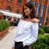 Biała damska bluza hiszpanka przedłużana