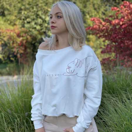 Seksowna damska bluza z mopsem
